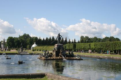 Neptune fountain in Peterhof
